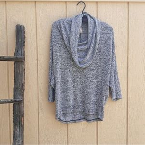 Olivia Moon Cowl Neck Tunic Batwing Sweater Top S
